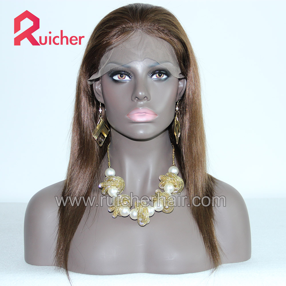 Real straight Indian human hair wigs for black women,Lace Front Wig human hair
