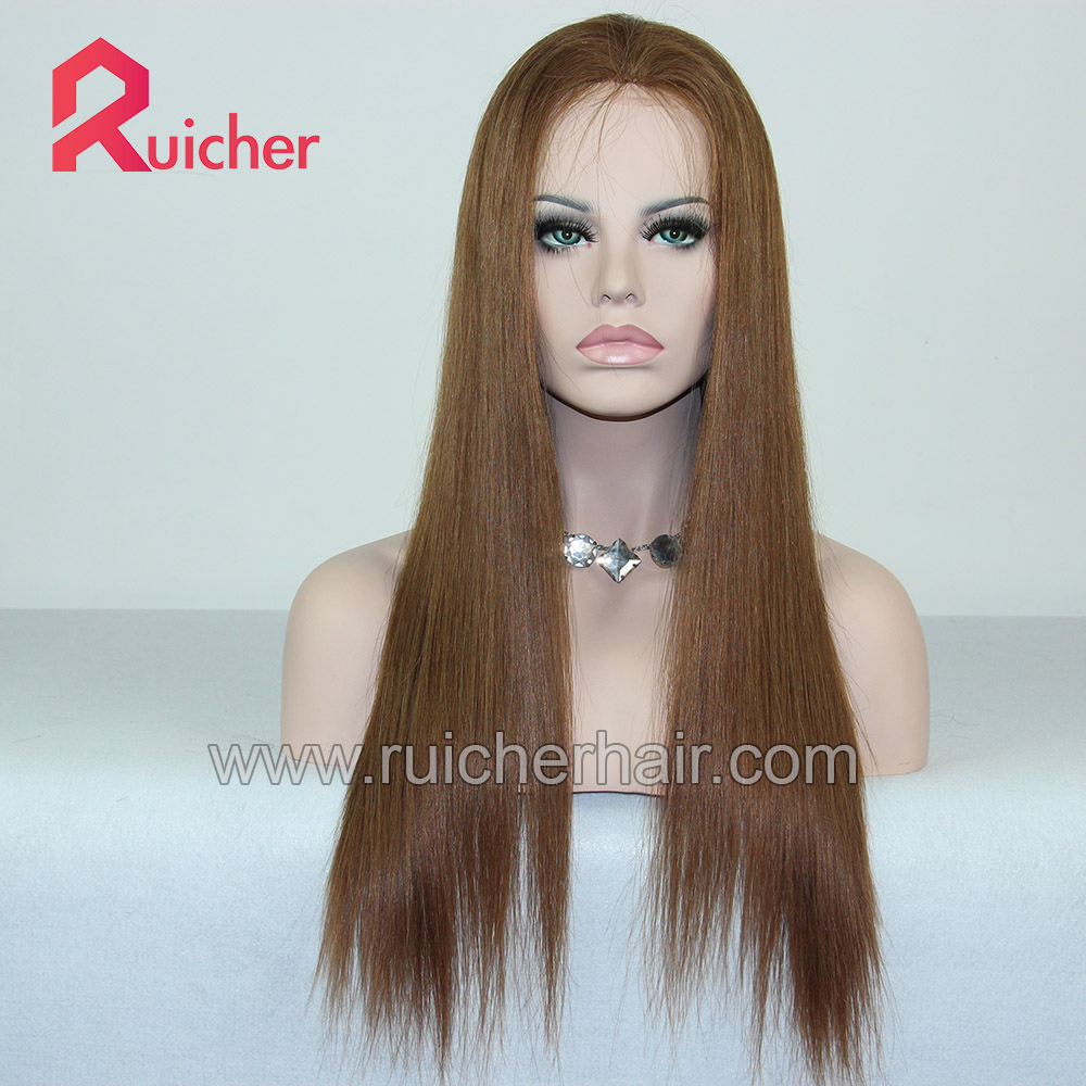 2020 Top Grade Human Hair Full Lace Wigs European Virgin Hair PU Wig