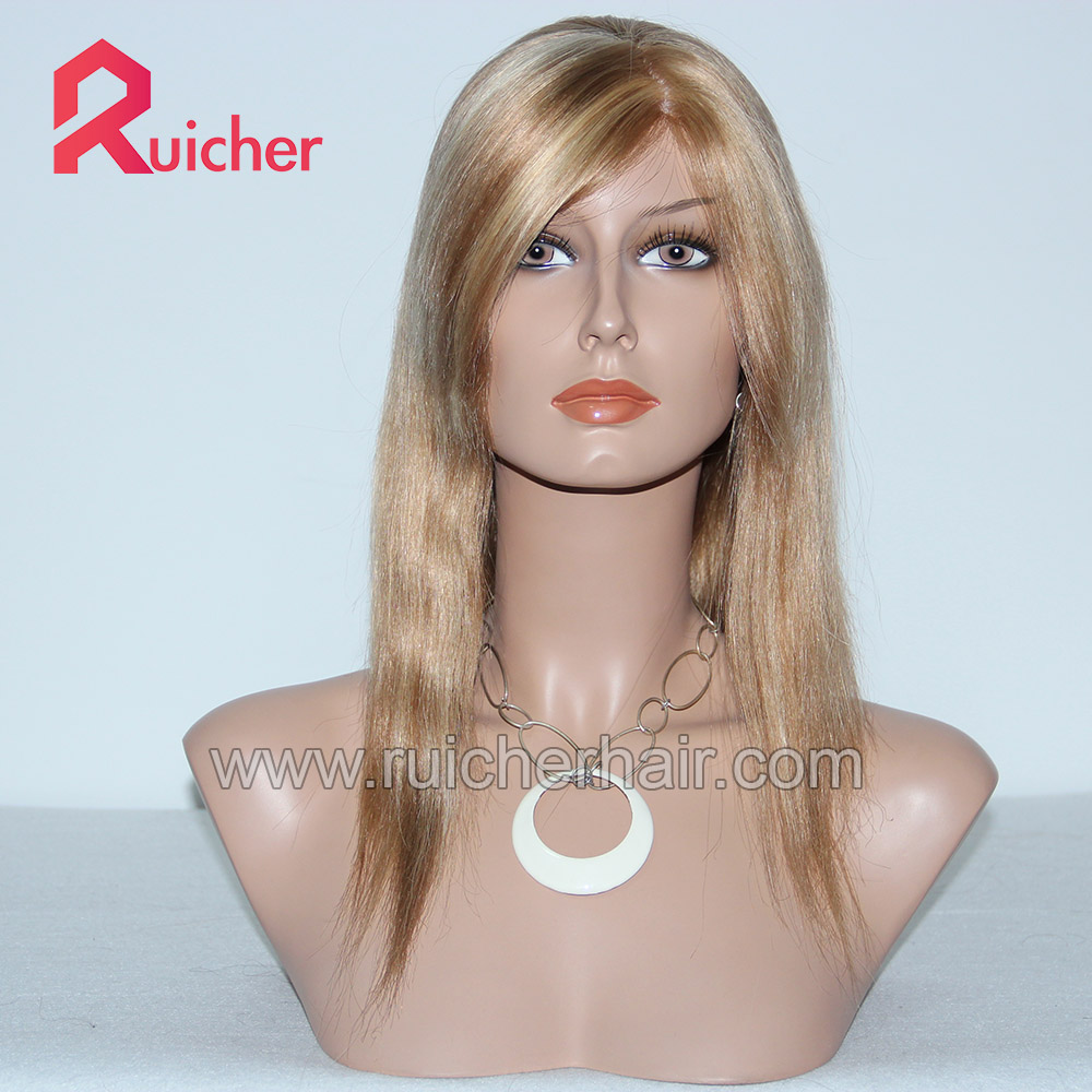 High Quality Glueless Lace Front Wigs Mongolian 100% Human Hair Wig