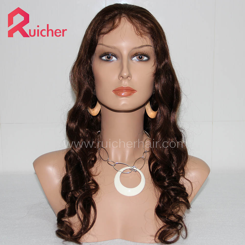 Full Lace Wigs Beyonce Body Wave Color Indian Remy Hair Wigs for Women