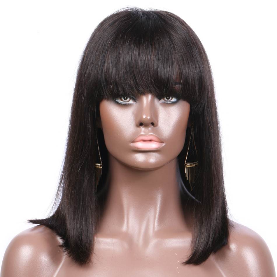 BoB style Lace Front Wigs Natural Color Indian Remy Hair