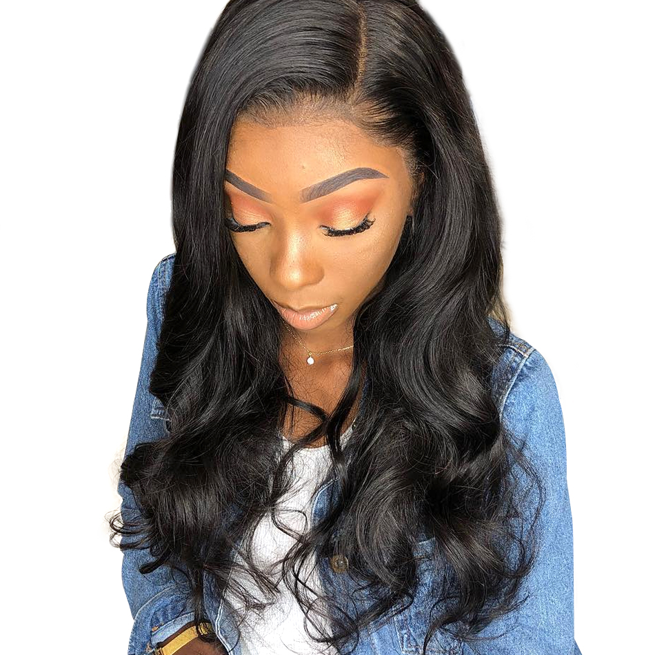 Full Lace Human Hair Wigs For Women Indian Remy Hair Pre-Plucked With Baby Hair