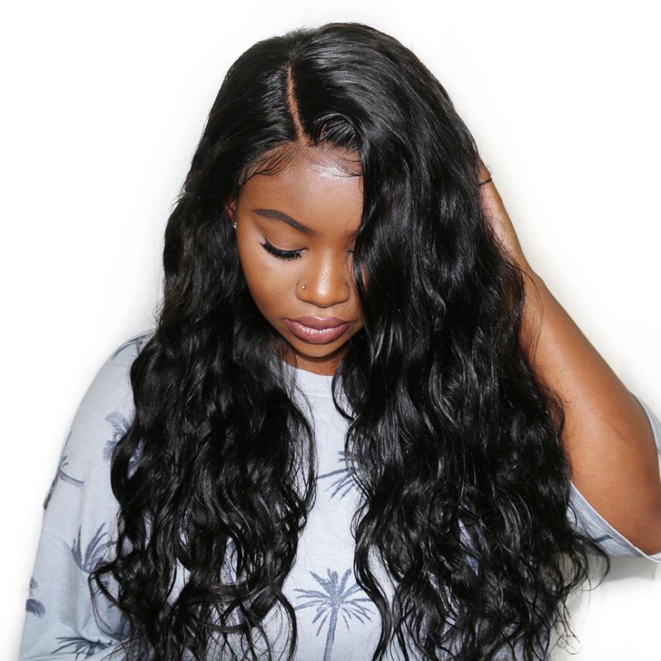 Brazilian Virgin Hair Lace Front Wig Natural Straight For Black Women