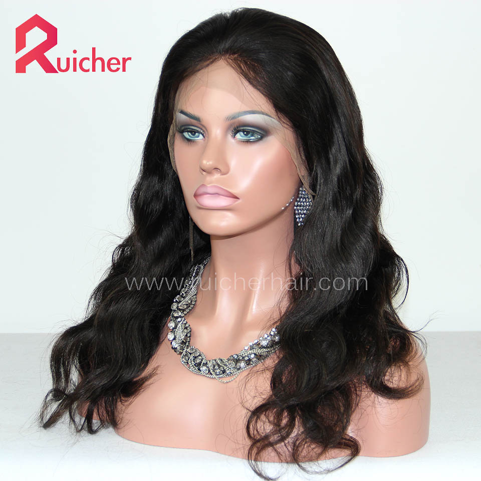 Chinese Virgin Hair Full Lace Wigs Natural Color Body Wave