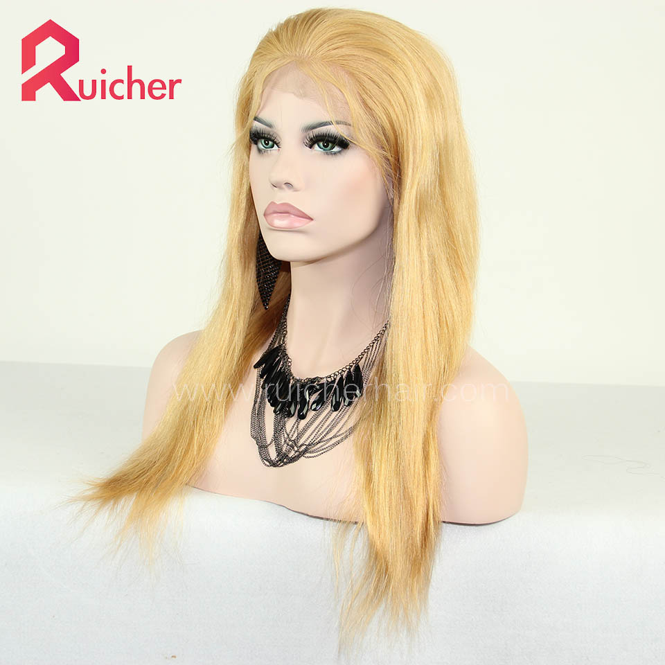 Chinese Virgin Hair Full Lace Wigs 27# Color Natural Straight