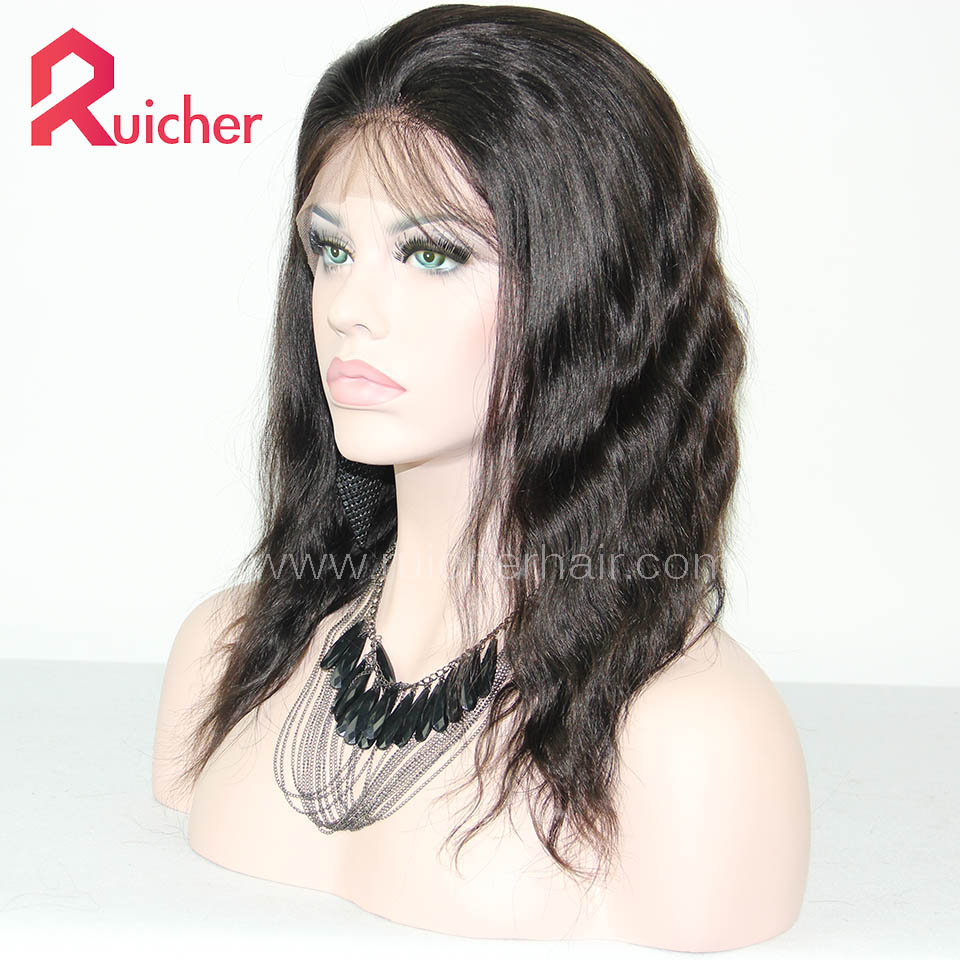 European Virgin Hair Full Lace Wigs Natural Wave Free Shipping