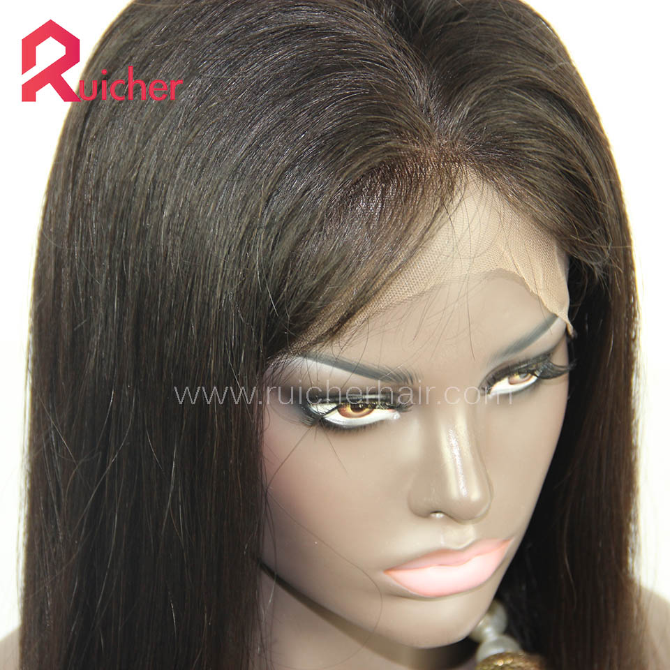 Peruvian Virgin Hair Full Lace Wigs Natural Color Free Shipping