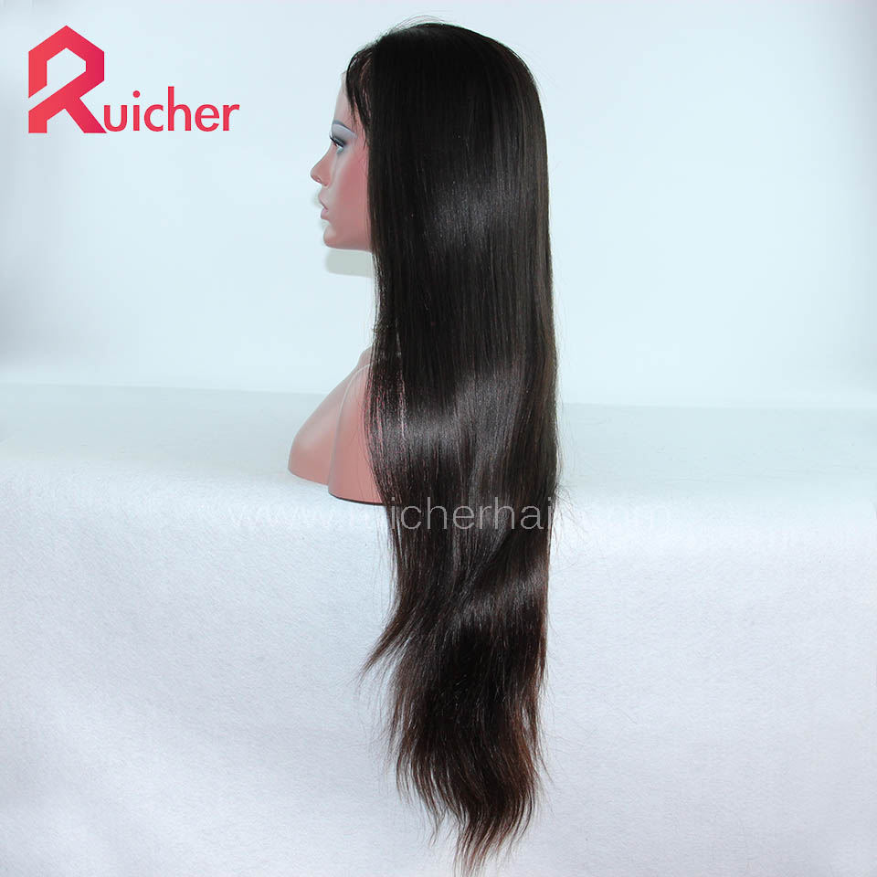 Chinese Virgin Hair Full Lace Wigs Natural Color Natural Straight