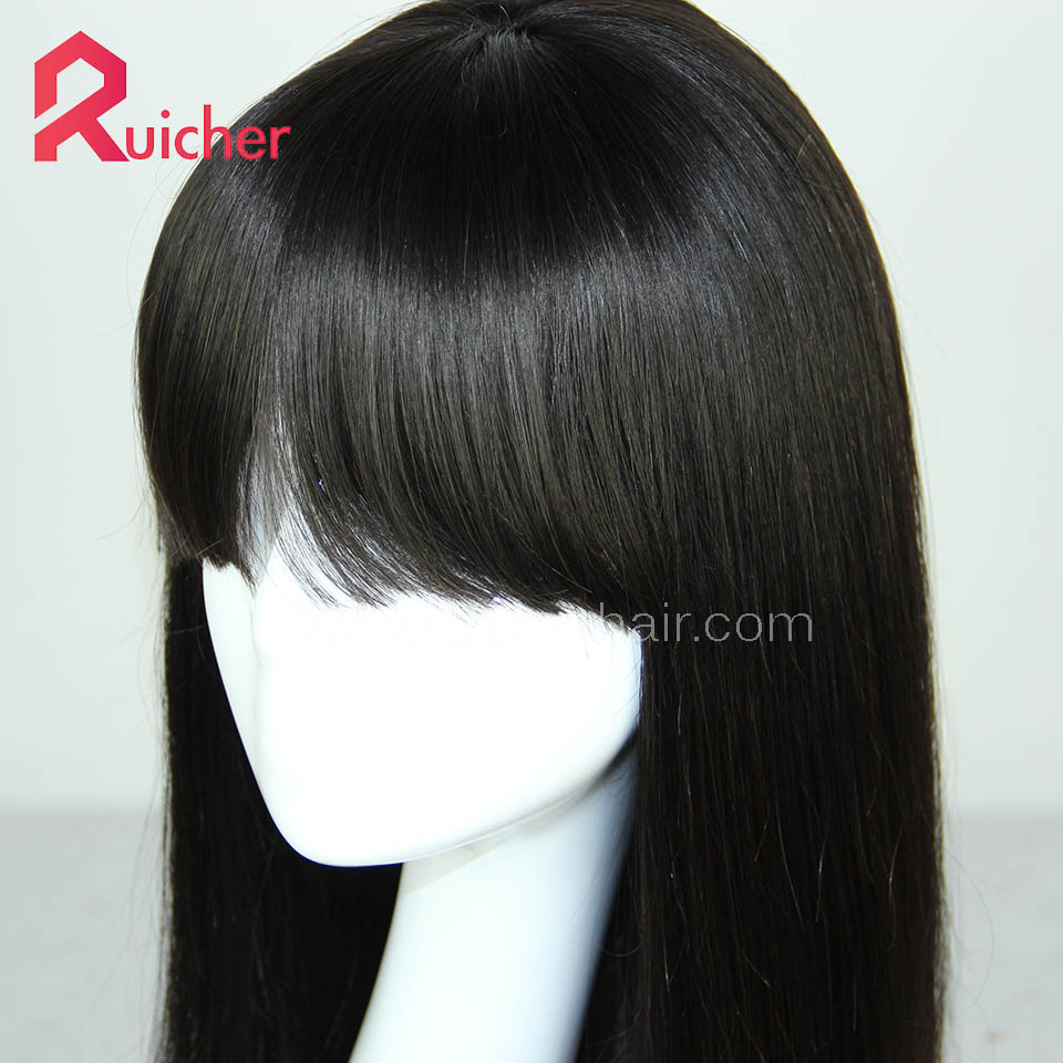 Chinese Virgin Hair Full Lace Wigs Natural Black Color Straight