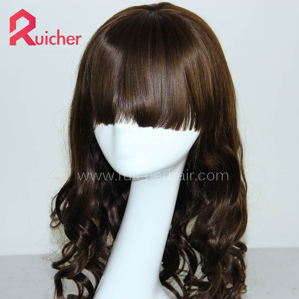Chinese Virgin Hair Full Lace Wigs Curl 4# Color