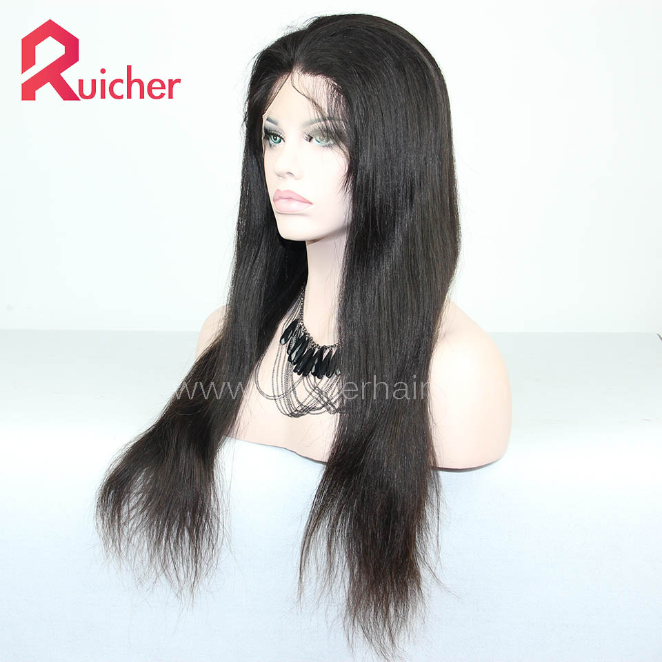 European Virgin Hair Full Lace Wigs Natural Color Free Shipping