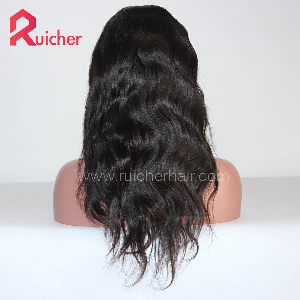 Peruvian Virgin Hair Full Lace Wigs Natural Wave Natural Color