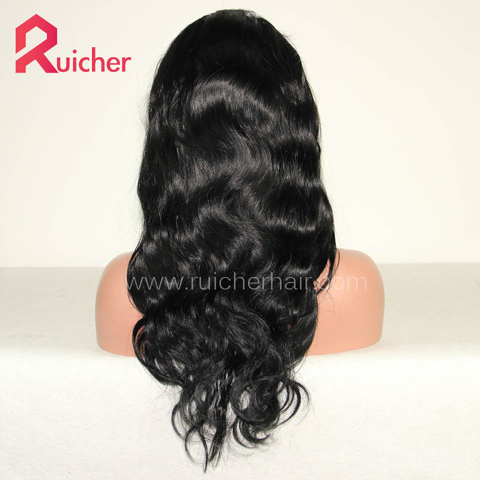 Chinese Virgin Hair Full Lace Wigs 1# Color Bodywave