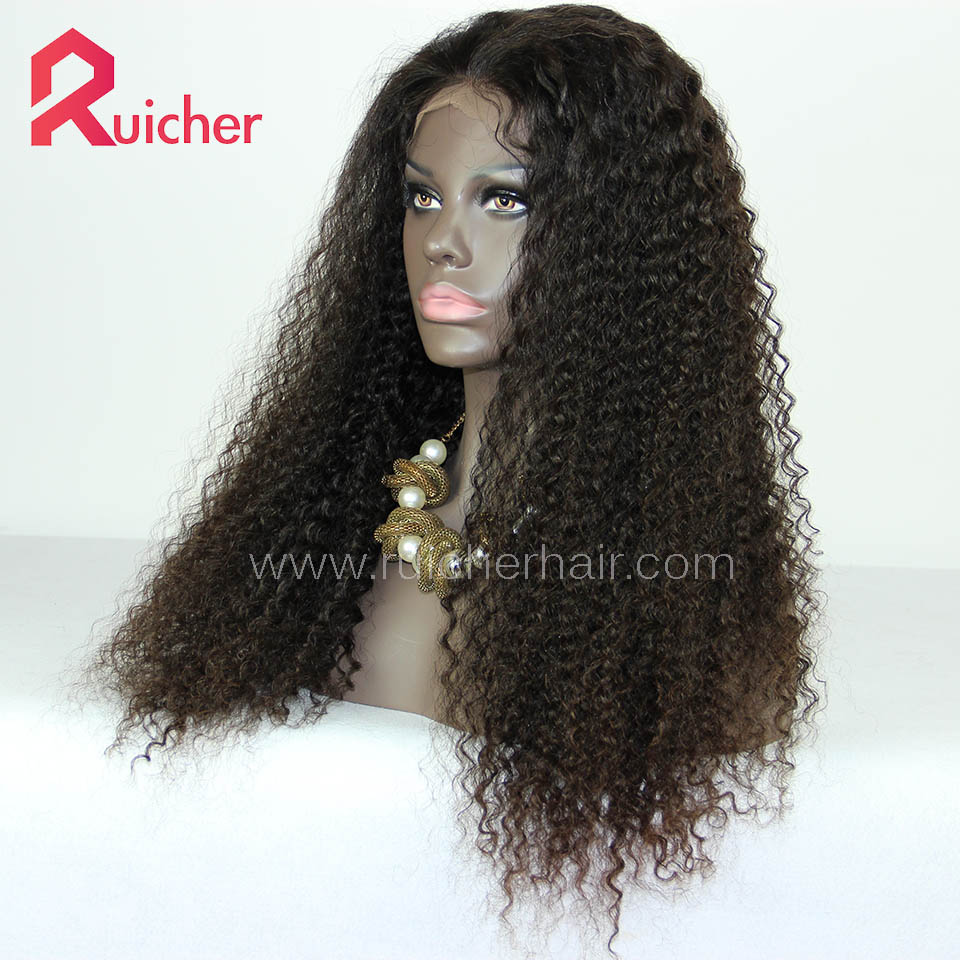 Malaysian Virgin Hair Full Lace Wigs Natural Color Deep Wave Free Shipping