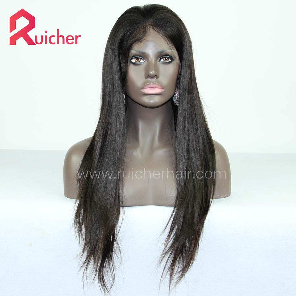mongolian Virgin Hair Full Lace Wigs Natural Straight Free Shipping