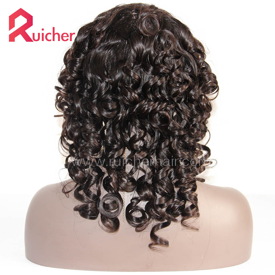 Malaysian Virgin Hair Full Lace Wigs Bottom Curl Free Shipping