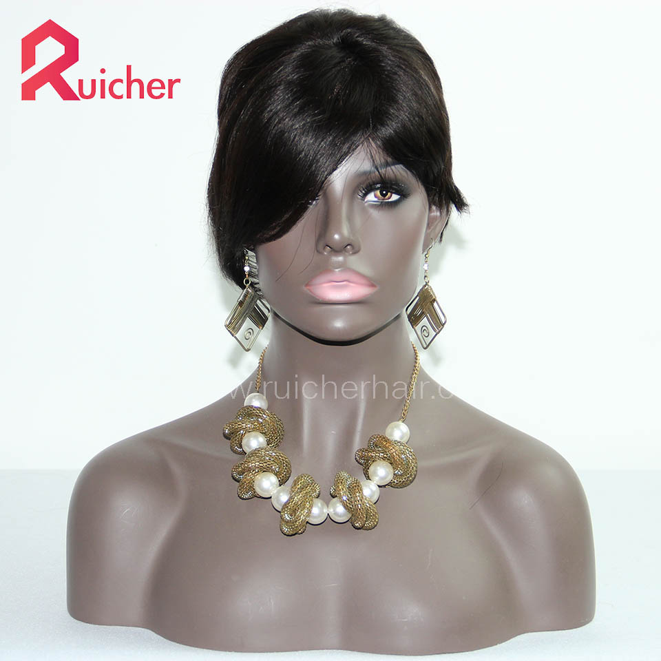 Lace Front Wigs Indian Remy Hair  Natural Color