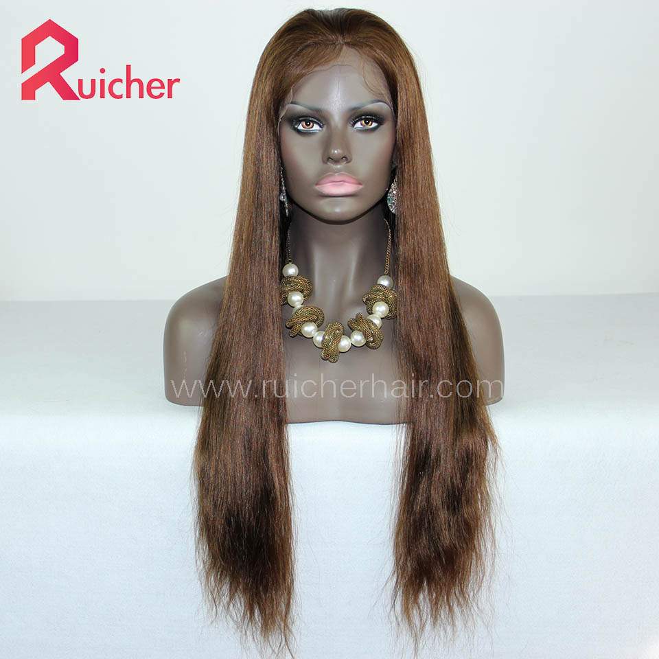 Full Lace Human Hair Wig Pre Plucked INDIAN Remy Wigs with Baby Hair