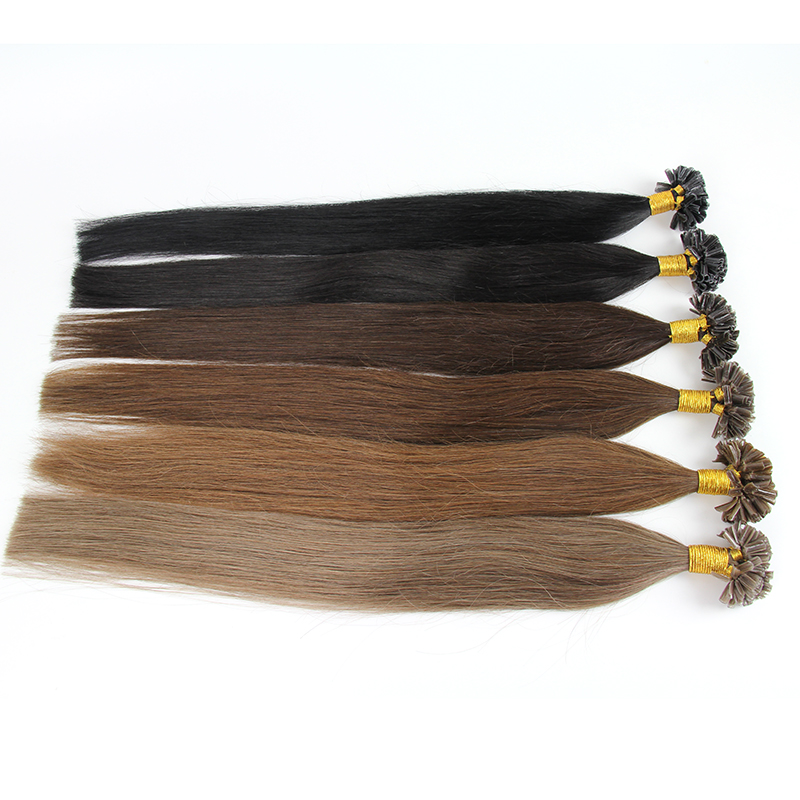 Mixed Color Straight Style Pre-bonded Hair Extension
