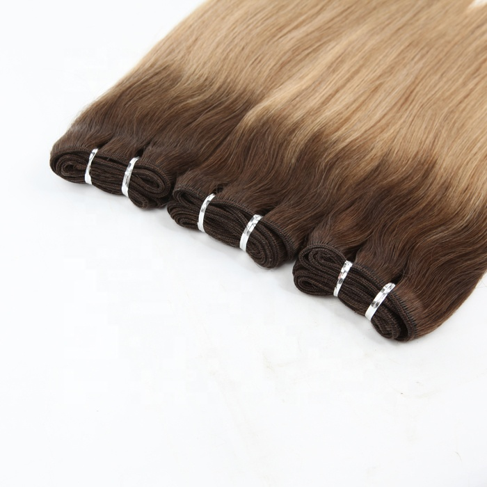 weft european straight T960# with 9# highlights Hair Weave