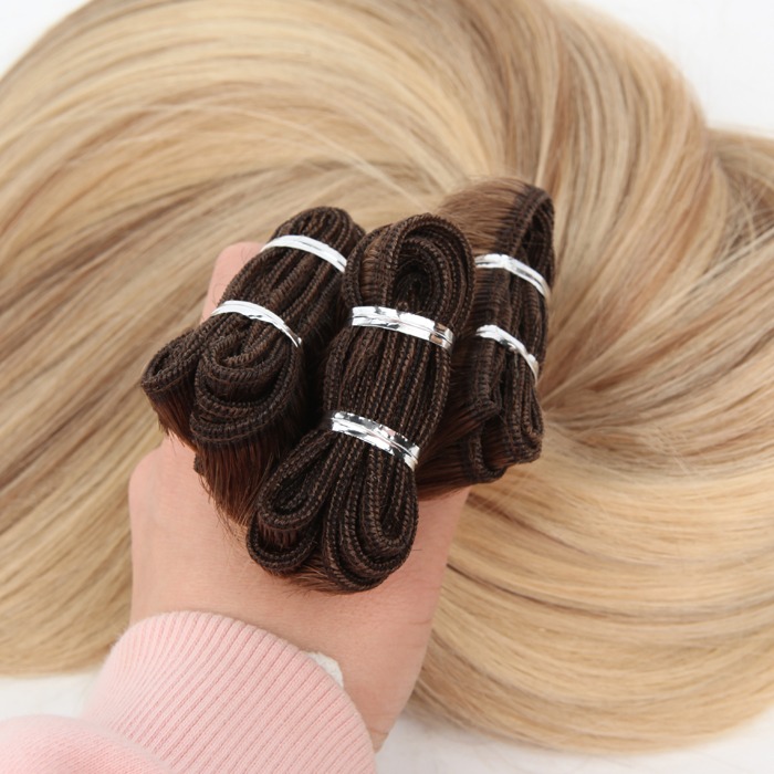 T9# 60with 9# highlights European Virgin Hair Extensions Weft