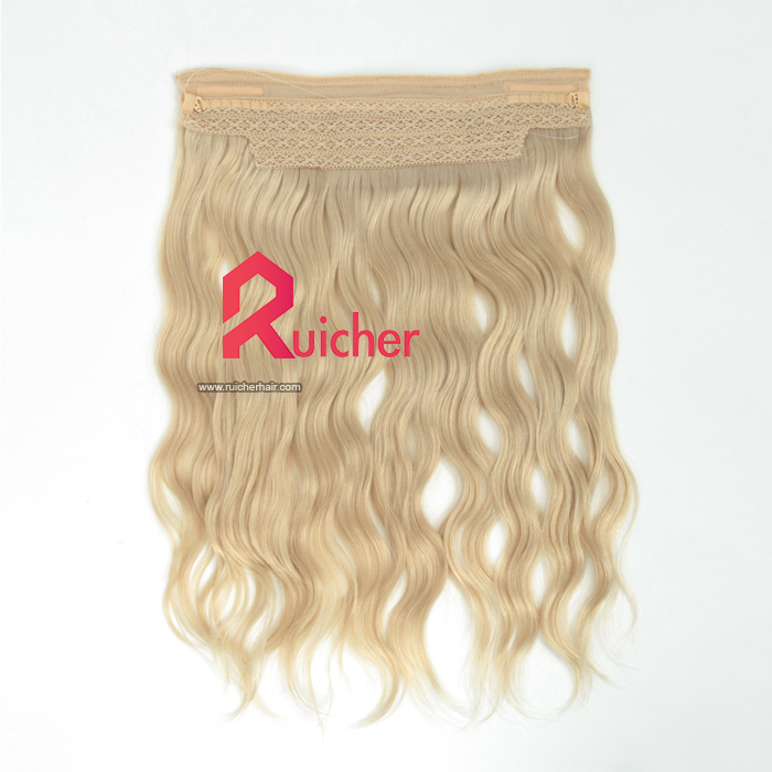 Indian virgin 16in Natural Wave 60# Color halo hair