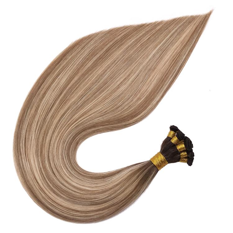 Hand Wefts Wholesale European virgin Hair Extension