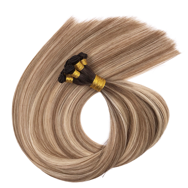 Wholesale European virgin Hair Extension Human hand wefts