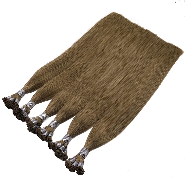 Wholesale European virgin Hair Extension Human hand wefts 120g