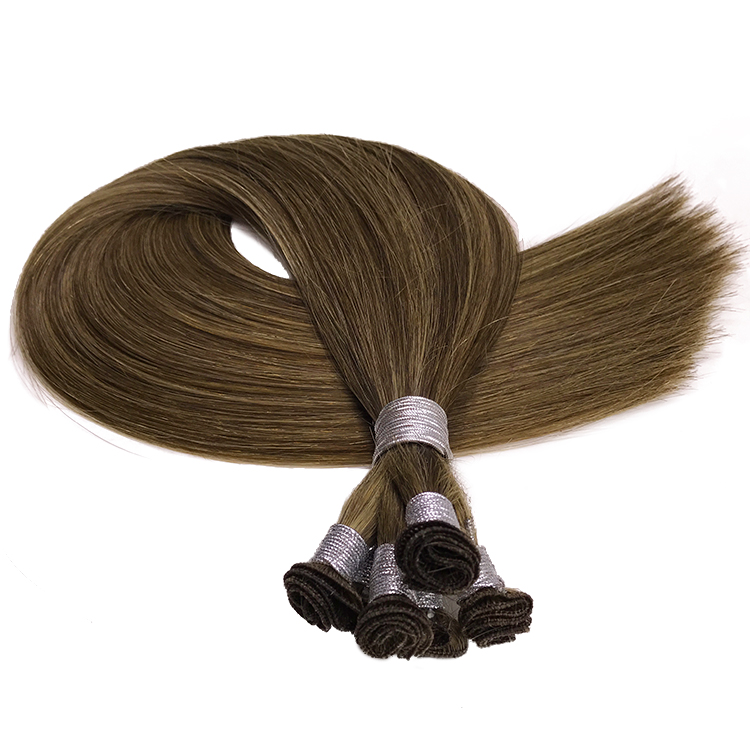Wholesale brazilian virgin Hair Extension Human hand wefts