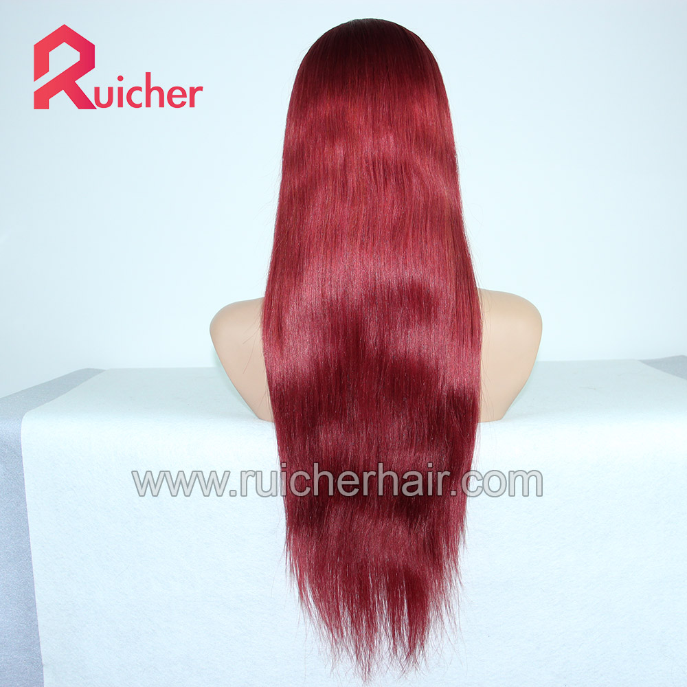 Silk Base Brush Back lace human hair wig for Front Full Cuticle Chinese Hair Jewish Wig