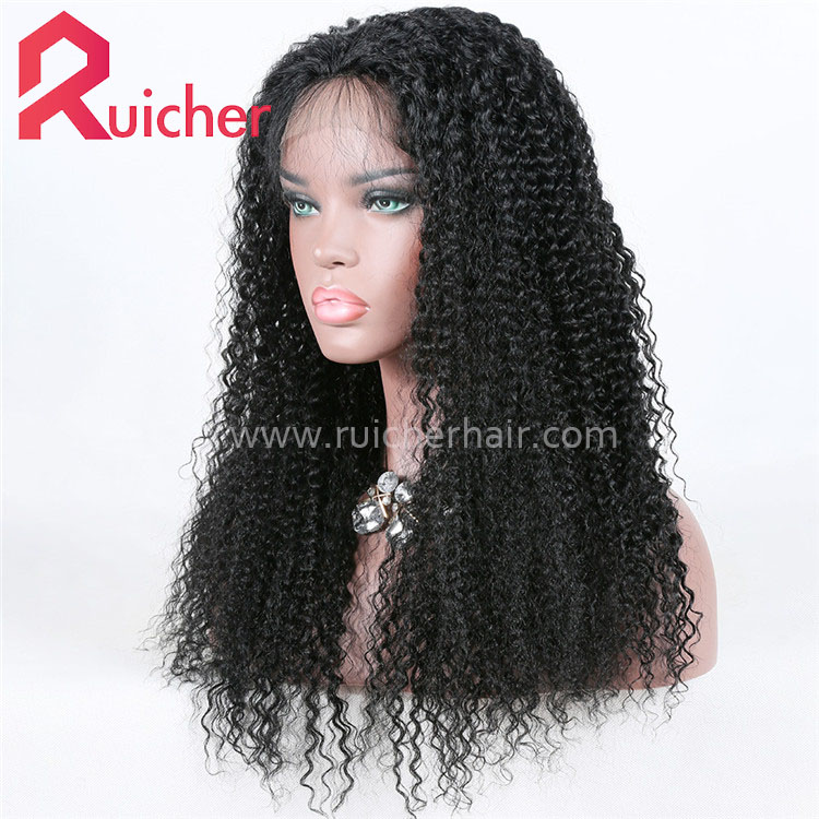Kinky Curl 360 lace frontal wig human indian hair wigs for black women 360 lace 150 density.