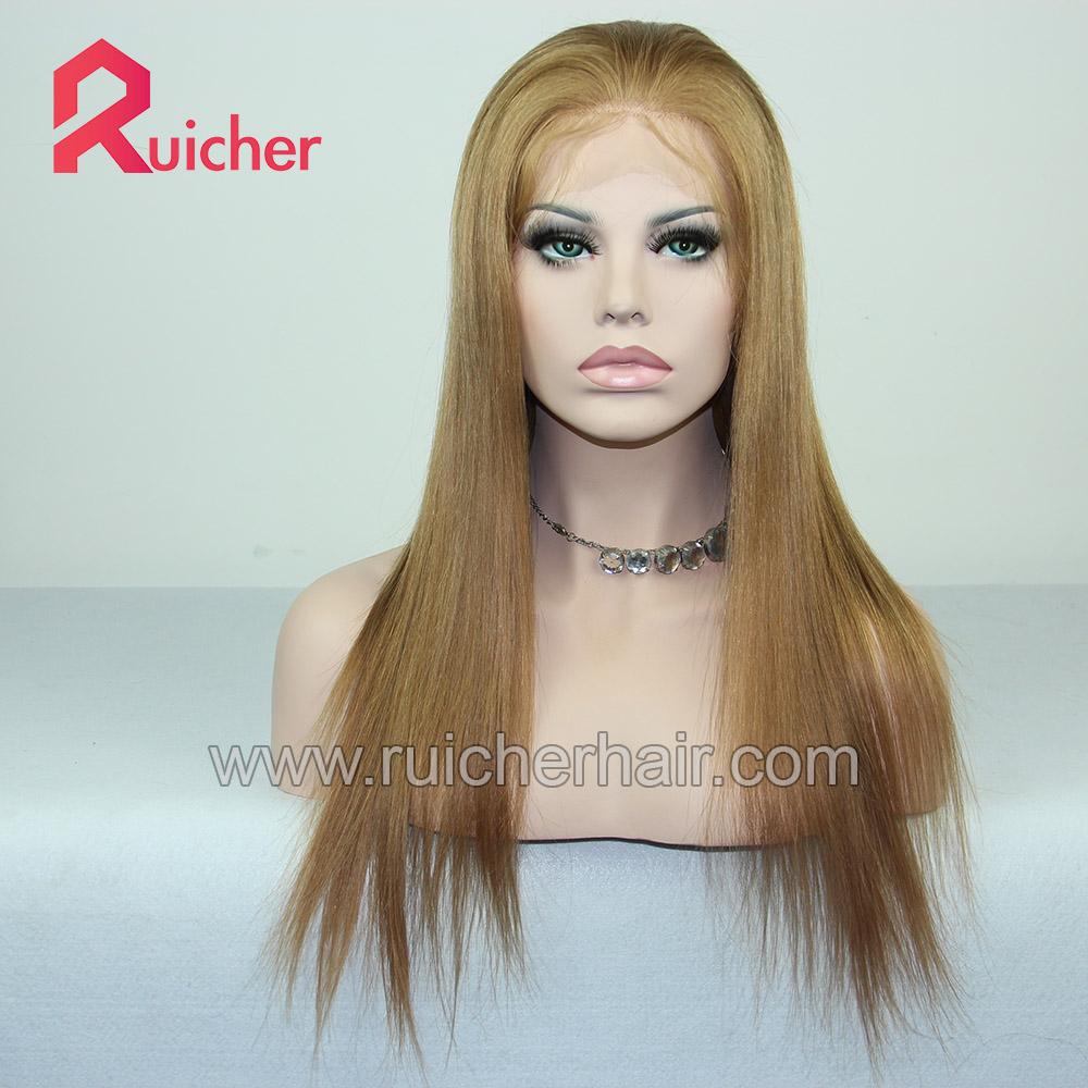 High Quality  Cheap European Virgin Full Lace Wigs Hair Straight Pre Plucked