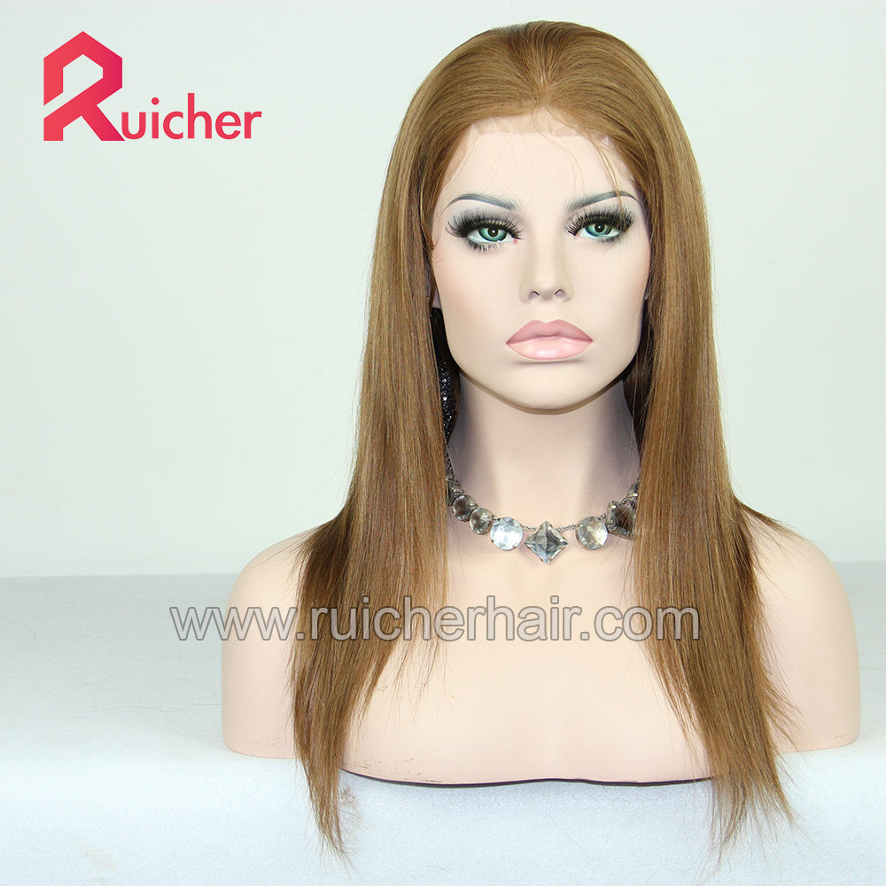 Factory price heavy density top 10a grade 100% virgin European human hair full lace wigs