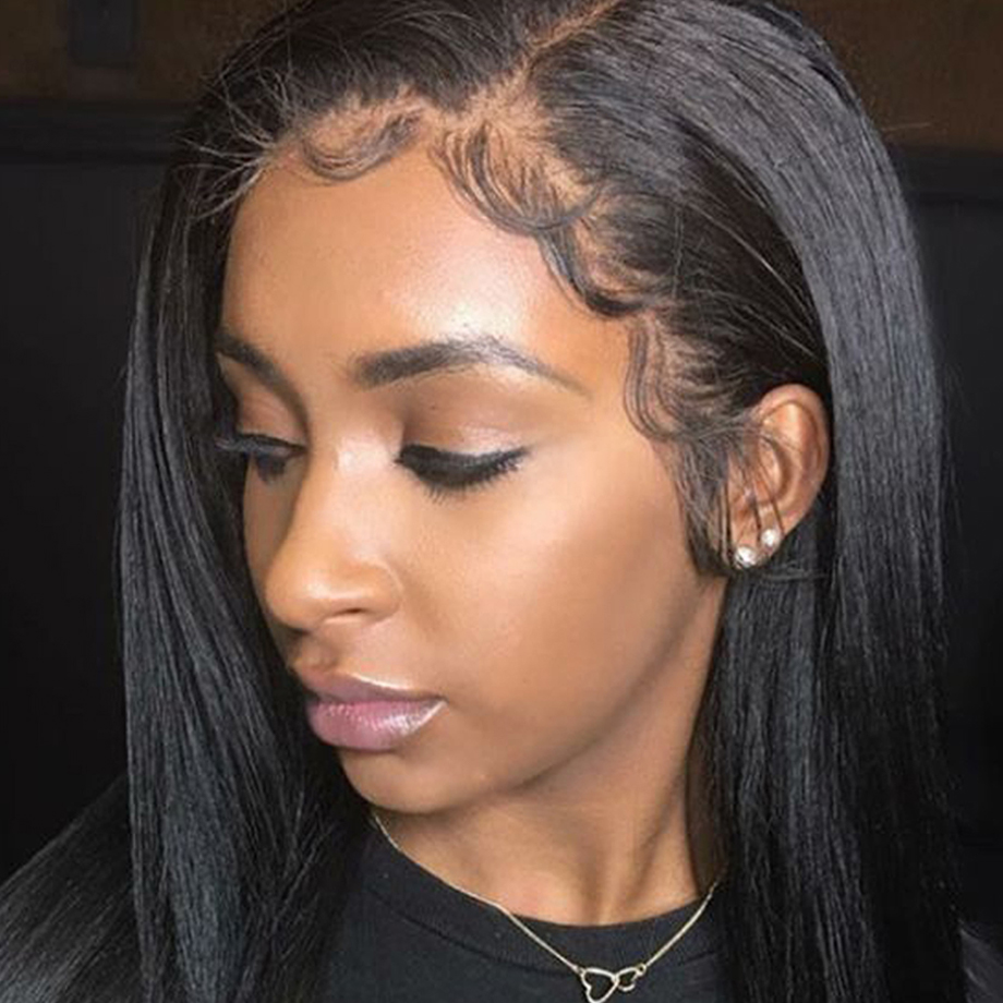 Indian Lace Human Hair Wigs For Women Wig With Baby Hair