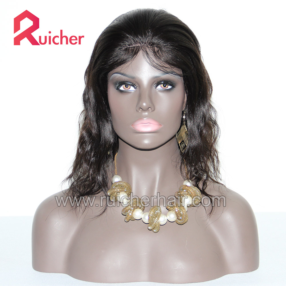 Silk base full lace wig Wholesale virgin 100% cheap short natural brazilian HD full lace wig