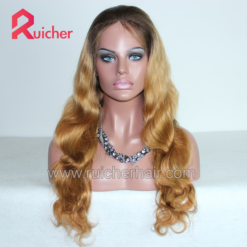 Malaysian Virgin wig body wave human hair Glueless wig with baby hair,Raw swiss human hair