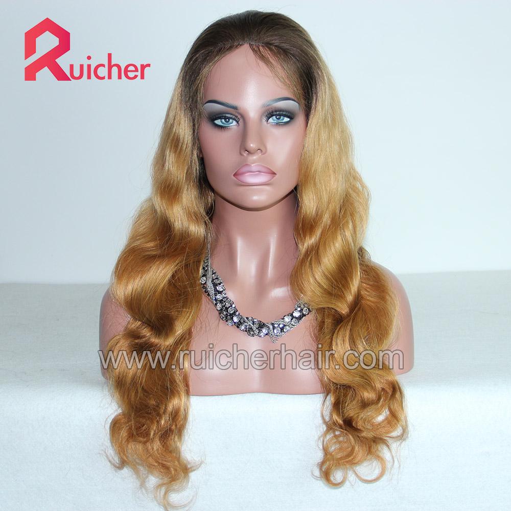 Malaysian Virgin wig body wave human hair Glueless wig with baby hair,Raw swiss human hair