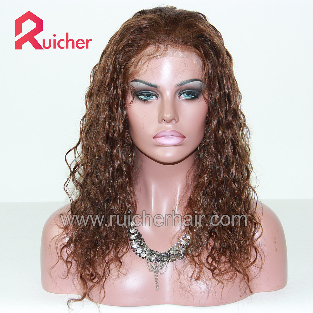 22mm curly mongolian glueless lace frontal human hair human lace front wig